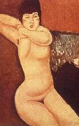 Reclining nude with Clasped Hand, Amedeo Modigliani