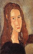 Portrait of Jeanne Hebuterne-Head in profile, Amedeo Modigliani