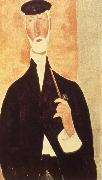 Man with Pipe, Amedeo Modigliani