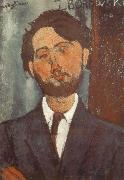 Portrait of Leopold zborowski, Amedeo Modigliani
