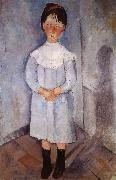 Little girl in blue, Amedeo Modigliani