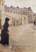 Beraud, Jean Waiting,Paris,Rue de Chateaubriand oil painting