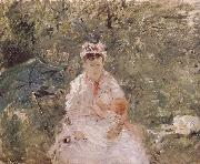 The biddy holding the infant, Berthe Morisot