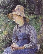 Bathing girl who sat up haret, Camille Pissarro