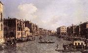Grand Canal: Looking South-East from the Campo Santa Sophia to the Rialto Bridge, Canaletto