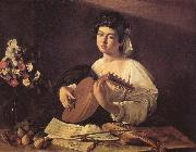 Caravaggio Lutspelaren oil painting reproduction