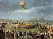 Ascent of the Balloon in the Presence of Charles IV and his Court, Carnicero, Antonio