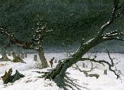 Caspar David Friedrich Winter Landscape oil painting reproduction