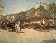 Grand Prix Day, Childe Hassam