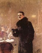 Portrait of the Artist Gerhard Munthe, Christian Krohg