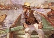 Look ahead,the harbour at Bergen, Christian Krohg