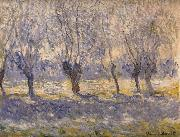 Willows in Haze,Giverny, Claude Monet