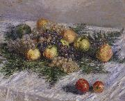 Still life with Pears and Grapes, Claude Monet
