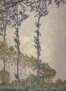 Wind Effect,Sequence of Poplars, Claude Monet