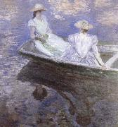 Young Girls in a boat, Claude Monet