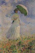Study of a Figure Outdoors, Claude Monet