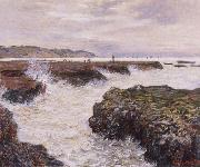 Claude Monet The Rocks near Pourville at Ebb Tide oil painting reproduction