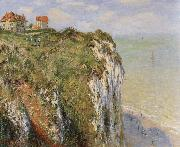 Cliffs near Dieppe, Claude Monet