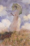 The Walk,Lady with Parasol, Claude Monet