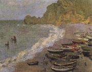 The Beach at Etretat, Claude Monet