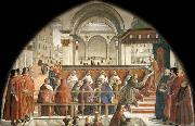 Domenico Ghirlandaio Confirmation of the Rule oil painting