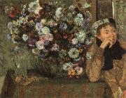 Woman with Chysanthemums, Edgar Degas