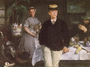 Edouard Manet Luncheon in the studio oil painting reproduction