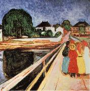 Four girls on a bridge