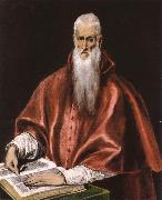 El Greco St Jerome as Cardinal oil painting reproduction