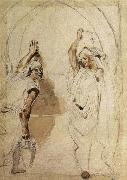 Eugene Delacroix Two Women at the Well oil painting reproduction