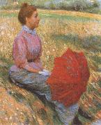 Federico zandomeneghi Lady in a Meadow oil painting