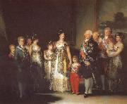 Charles IV with his family, Francisco Goya