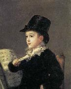 Francisco Jose de Goya Portrait of Mariano Goya, the Artist's Grandson oil painting reproduction