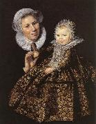 Catharina Hooft with her Nurse, Frans Hals