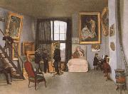 Frederic Bazille The artist-s Studio oil painting reproduction