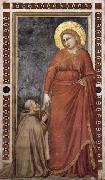 GIOTTO di Bondone Mary Magdalene and Cardinal Pontano oil painting reproduction
