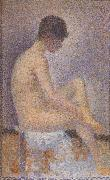 Georges Seurat Seated Female Nude oil painting reproduction