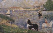 Horses in the Seine