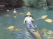 Bathers about to Dive into the Yerres, Gustave Caillebotte
