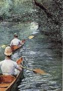 Canoeing on the Yerres, Gustave Caillebotte