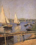 Sailing Boats at Argenteuil, Gustave Caillebotte