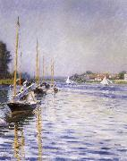 Boats on the Seine at Argenteruill, Gustave Caillebotte