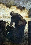 Laundress on the Quai d'Anjou, Honore  Daumier