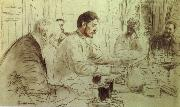 Ilya Repin Repin-s  pencil sketch oil painting on canvas