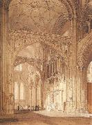 Interior of Salisbury Cathedral,looking towards the North Transept, J.M.W. Turner