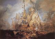 The Battle of Trafalgar, J.M.W. Turner