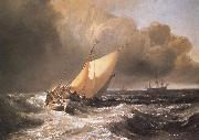 J.M.W. Turner Dutch Boats in a Gale oil painting reproduction