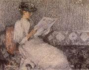James Guthrie The Morning paper oil painting
