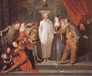 Figures from the Italian Commedia dell arte, Jean antoine Watteau