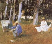 Claude Monet Painting at the Edge of a wood, John Singer Sargent